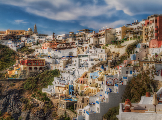 The captivating charm of Fira village
